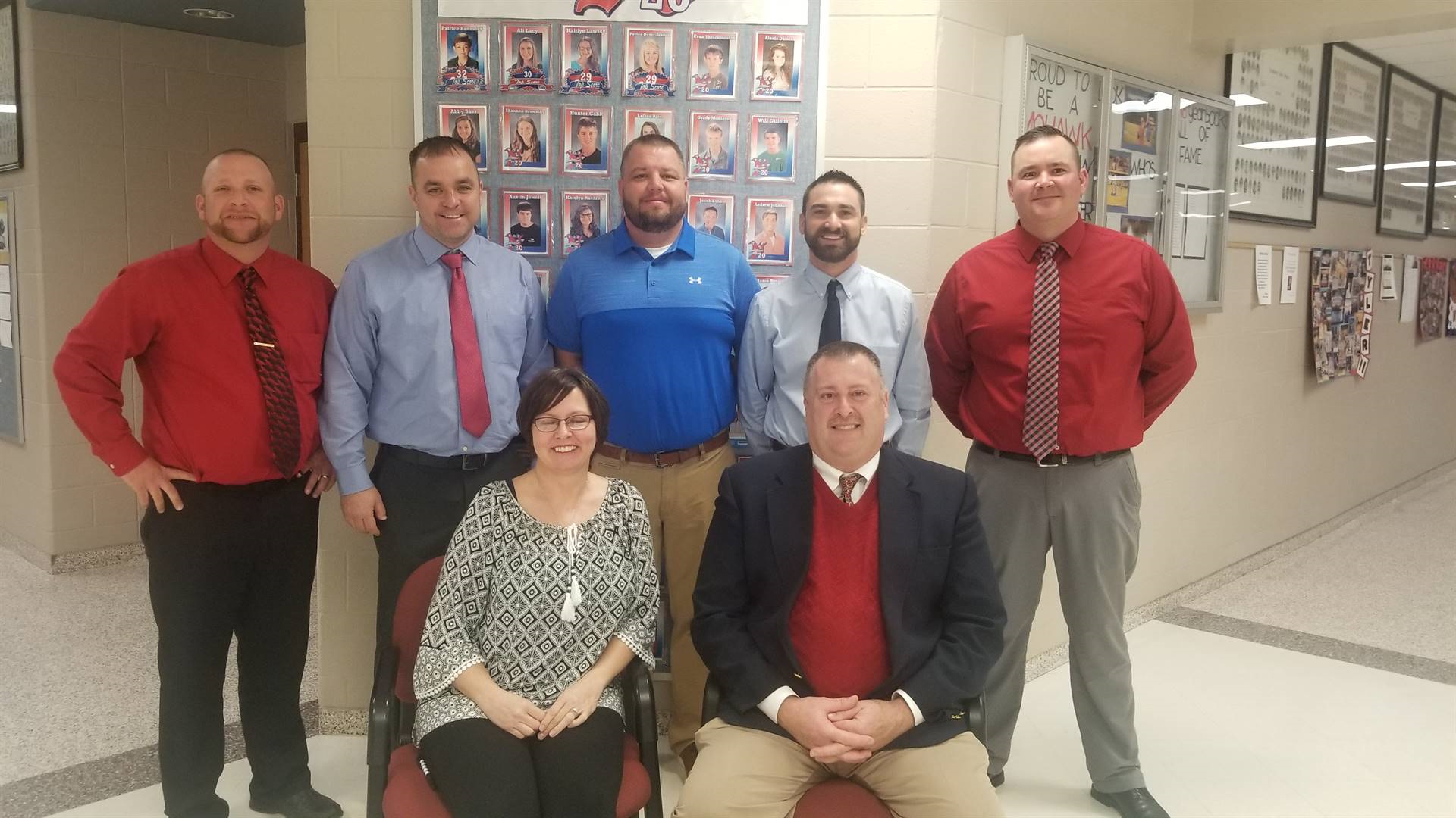 2018 Northwest Schools Board of Education members: Back row L - R Jared Lute (Board President), Dana