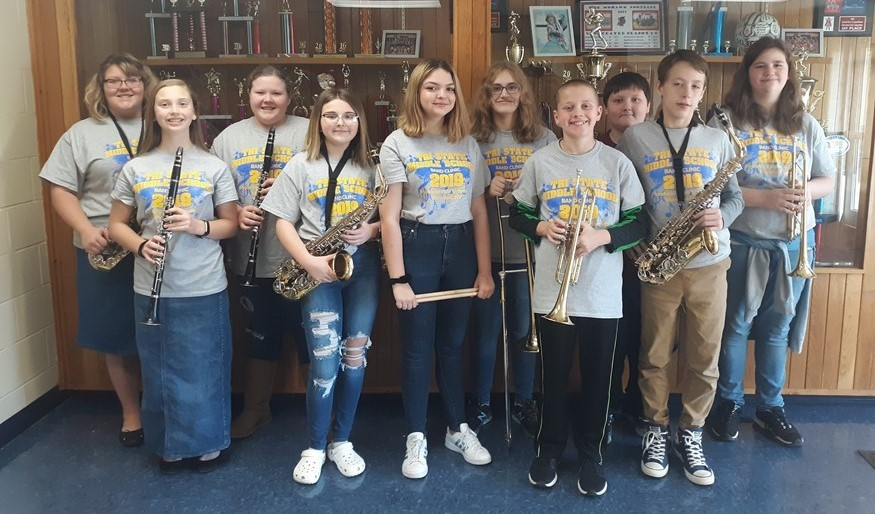 2019 Morehead State University Tri-State Middle School Honor Band Participants