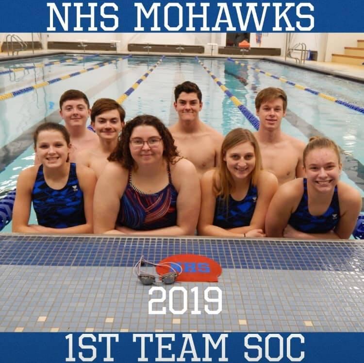 1st Team SOC Swim Team